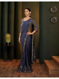 In vogue and contemporary, this pre-creased saree
