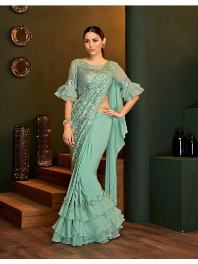 An advanced way to deal with party-wear sarees