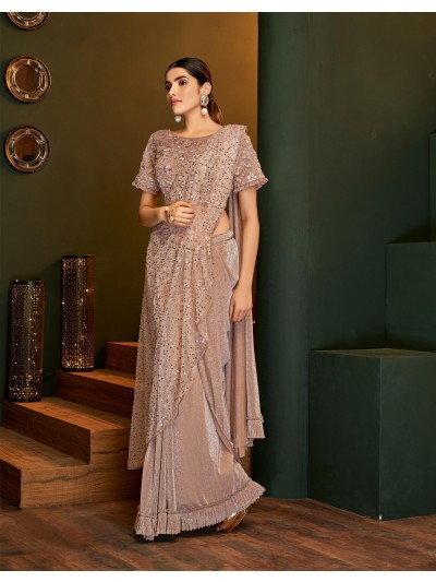 Ooze princess like vibes in this remarkably structured prepared to wear saree